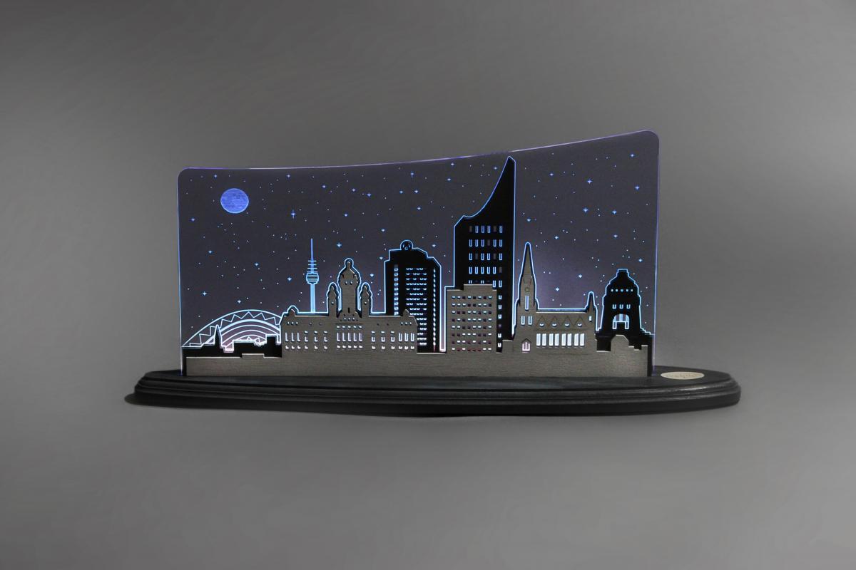 """LED Motivleuchte """"Leipzig Panorama"""" **Neu 2016**"""