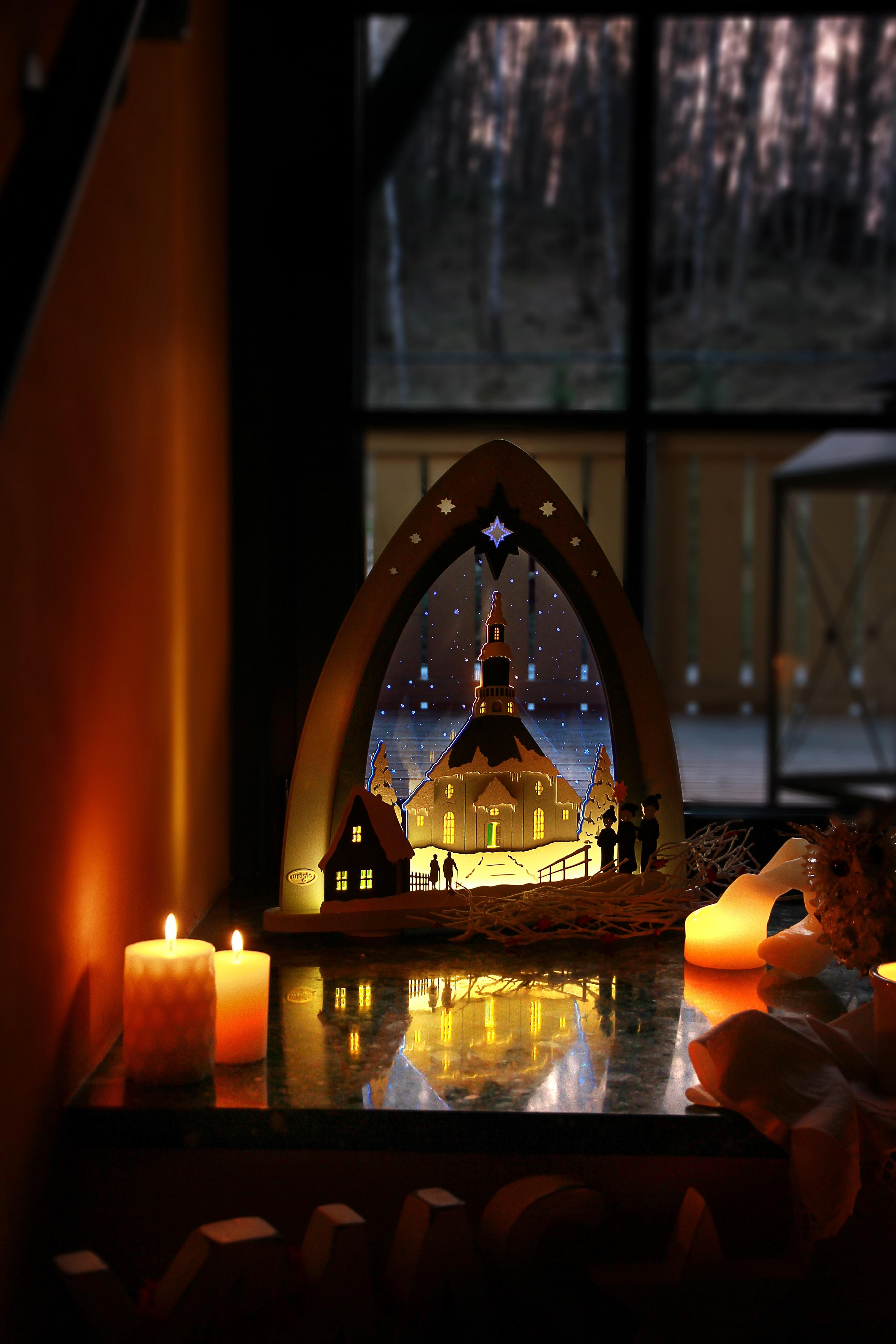 """Lichterspitze LED """"Seiffener Kirche"""" **Neu 2016**"""