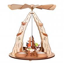 Schneemannpyramide für Teelichter