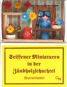 Zündholzschachtel - Blumenladen