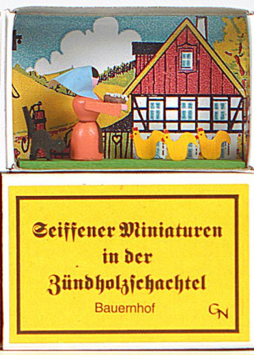 Zündholzschachtel - Bauernhof