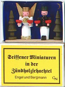 Zündholzschachtel - Engel und Bergmann
