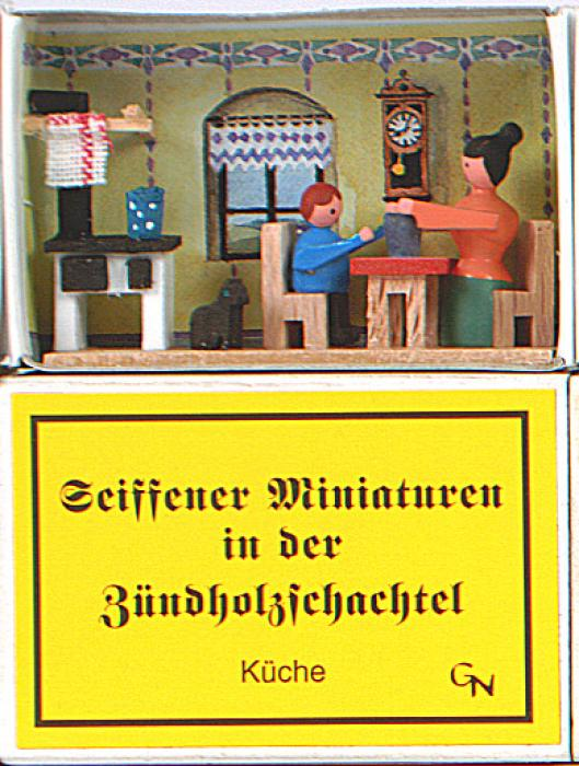 Zündholzschachtel - Küchenstube