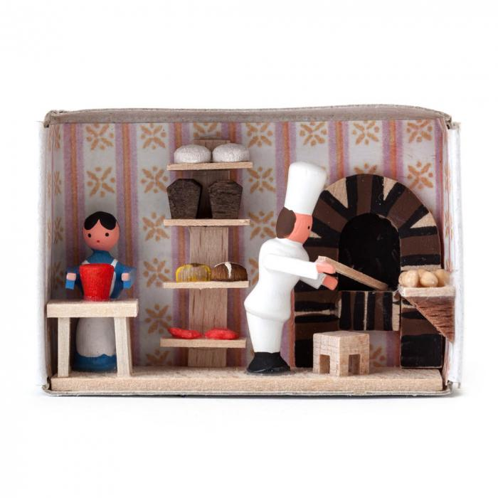 Zündholzschachtel - Bäckerei