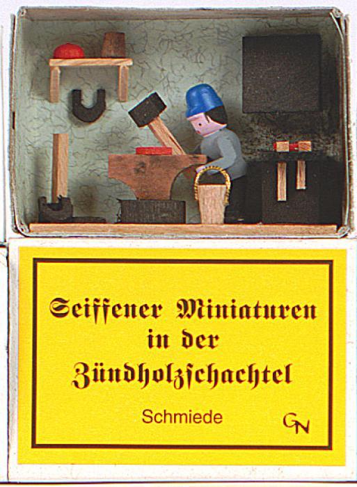 Zündholzschachtel - Schmiede