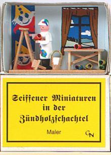 Zündholzschachtel - Maler