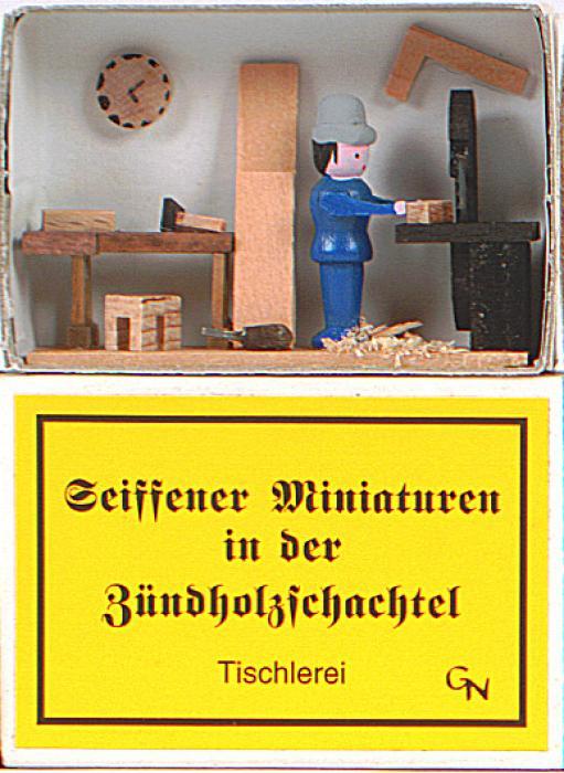 Zündholzschachtel - Tischler