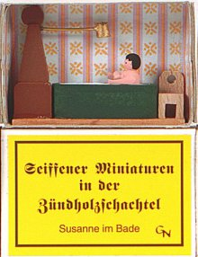 Zündholzschachtel - Susanne im Bade