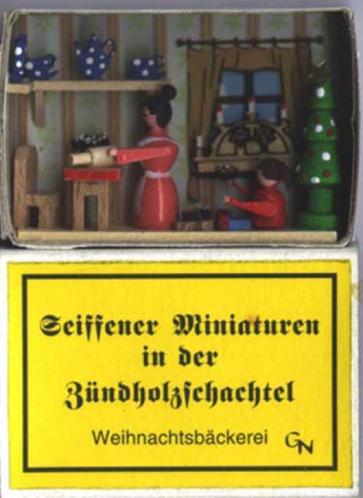 Zündholzschachtel Weihnachtsbäckerei