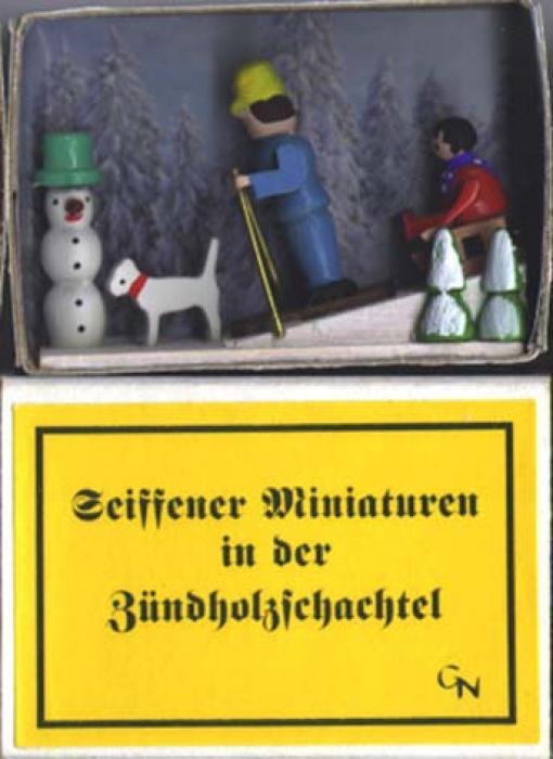 Zündholzschachtel Wintersport