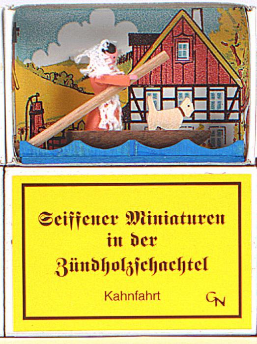 Zündholzschachtel - Kahnfahrt
