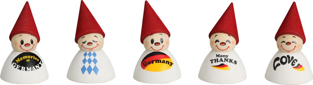 """Wippelfiguren """"Deutschlandfan"""" Dekor **Neu 2016**"""