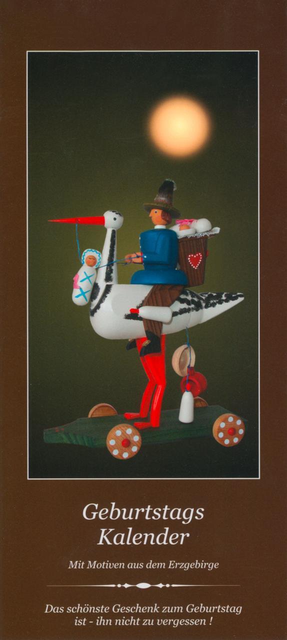 Geburtstagskalender mit Motiven aus dem Erzgebirge