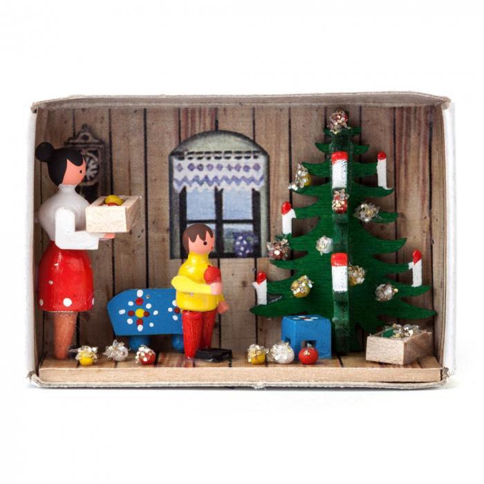 Zündholzschachtel - Vorfreude auf Weihnachten