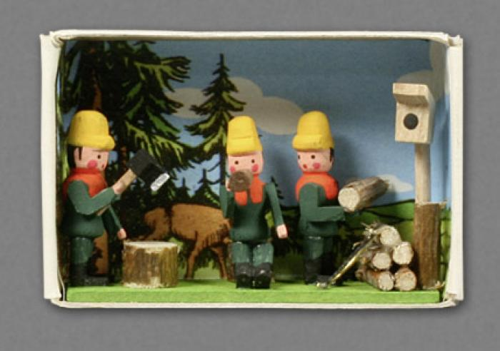 Zündholzschachtel - Holzfäller