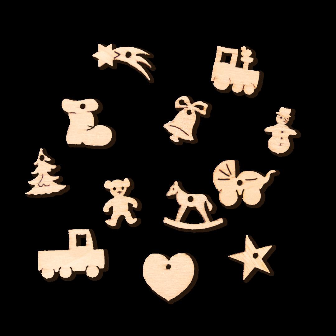 Miniatur-Christbaumschmuck 12-teiliges Set