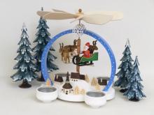 """Pyramide """"Weihnachtszauber"""" bunt, für Teelichter **Neu 2016**"""