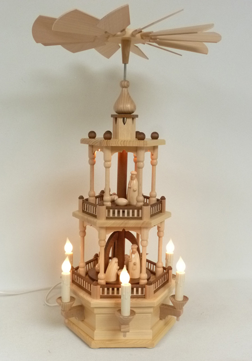 "Pyramide ""Christi Geburt"" 2-stöckig, elektrisch **Neu 2016**"