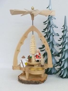 """Pyramide """"Nikolaus"""" für Teelichter **Neu 2016**"""