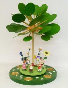 """Pyramide """"Frühlingserwachen mit Blumenkindern"""" für Teelichter"""