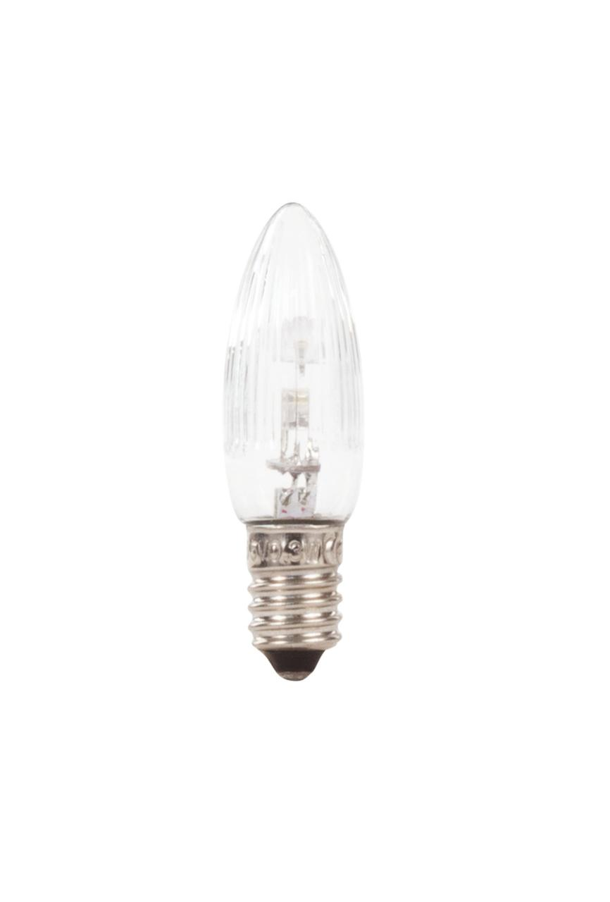LED-Spitzkerze, Riffelkerze, Ersatzbirne 14-55V/0,2W E10