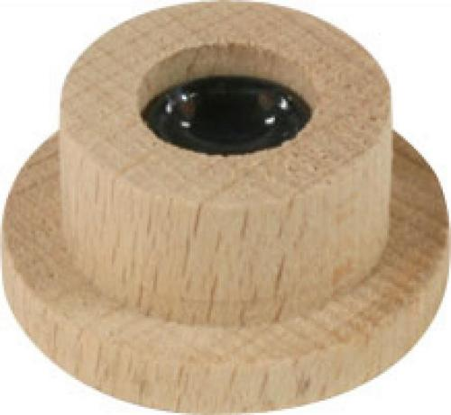 Glaslager 12,5 mm auf Holzsockel für Pyramiden