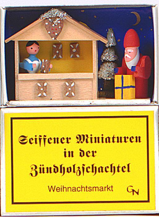 Zündholzschachtel Weihnachtsmarkt
