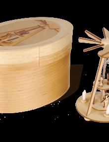 Miniatur Weihnachtspyramide mit echten Wachskerzen **Neu 2015**