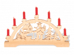"""Mini-Schwibbogen """"Räuchermann"""" mit roten Kerzen"""