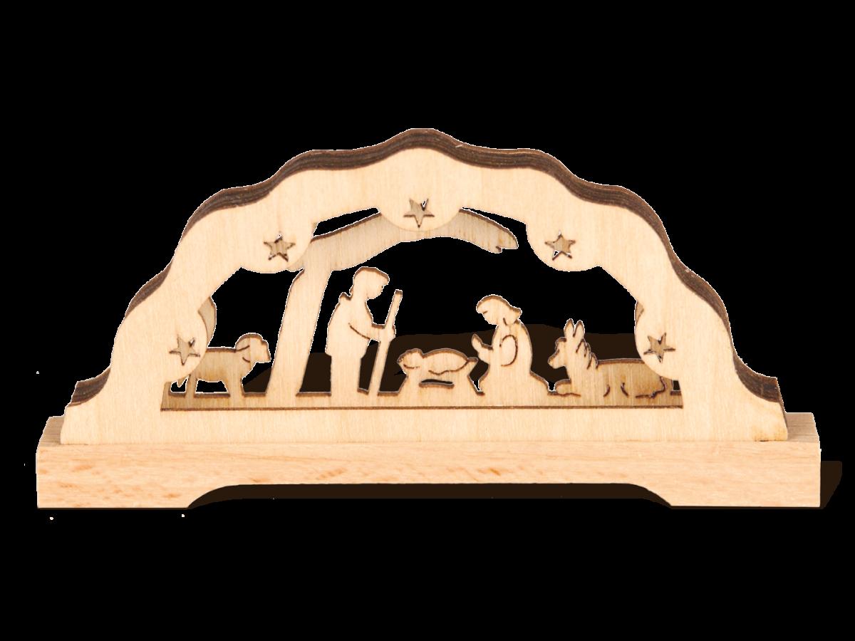 "Mini-Schwibbogen ""Christi Geburt"" mit LED Beleuchtung"