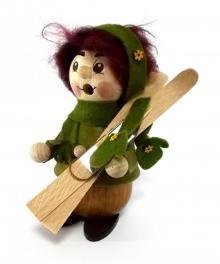 """Räuchermann, Kurzlatscher """"Skifahrerin"""""""