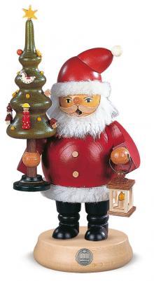 Räuchermann Weihnachtsmann mit Baum