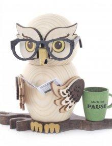 Räucherfigur Brilleneule
