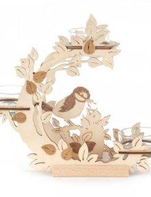 Teelichthalter Blütenkranz mit Vögeln mit Vögeln **Neu 2016**