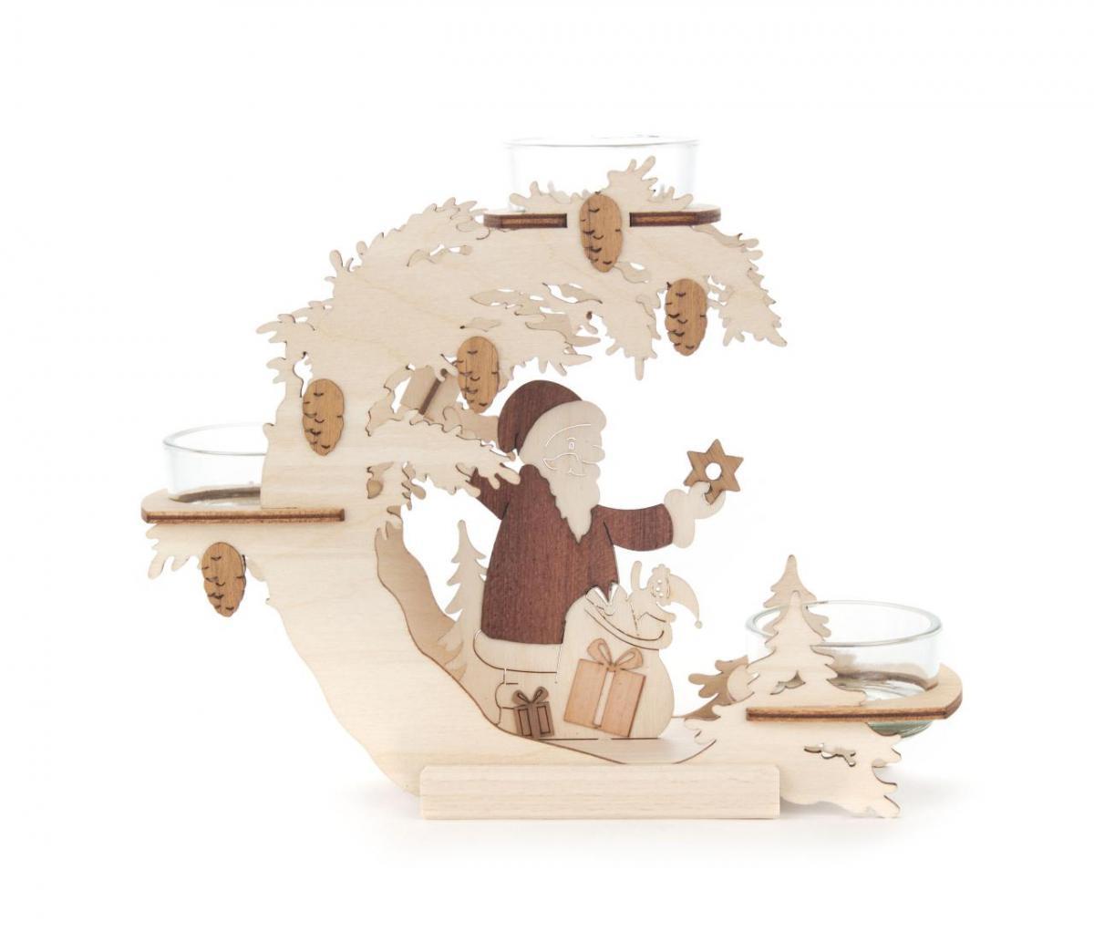Teelichtkranz Weihnachtsmann