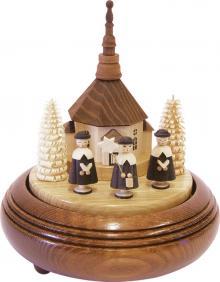 Spieldose Kurrende mit Seiffener Kirche