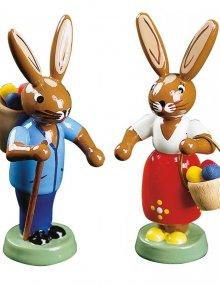 Hasenpaar mit Eierkorb