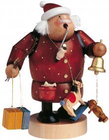 Räuchermann Weihnachtsmann dunkelrot