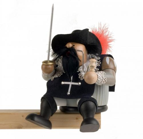 Räuchermann Kantenhocker Musketier Athos
