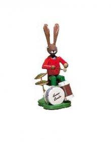 Hase mit Schlagzeug