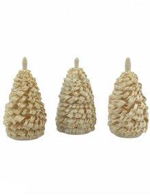3 Seiffener Fichten natur, 6cm