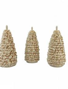 3 Seiffener Fichten natur, 10cm