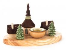 Kerzenhalter Seiffener Dorf