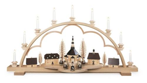 Candle Arch Seiffen village big electr.