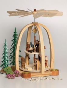 Pyramide Christi Geburt 2-Etg elektr. betrieben