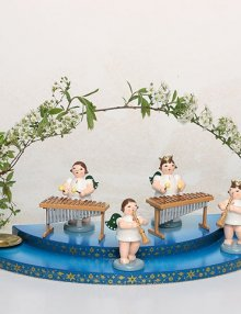 Engel am Xylophon ohne Krone