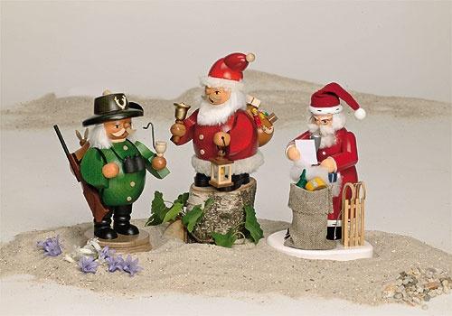 Räuchermann Weihnachtsmann mit Geschenken