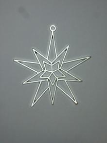 Baumbehang Stern aus Zinn (6)