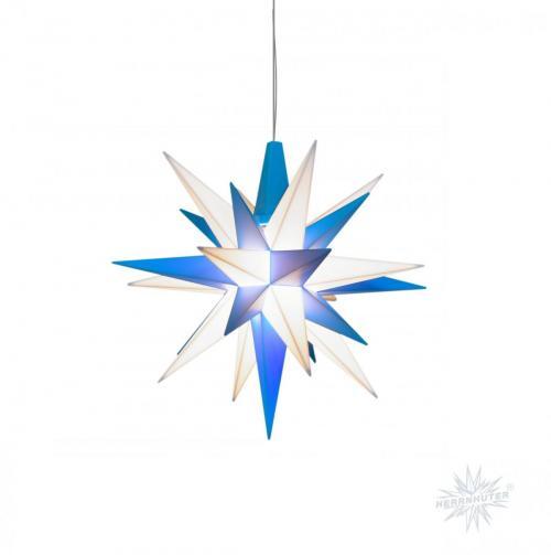 Herrnhuter Stern Kunststoff A4 blau/weiß