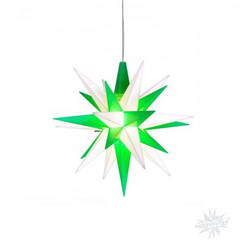 Herrnhuter Stern Kunststoff 68cm grün/weiß